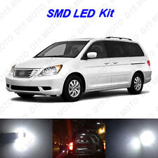 13 x White SMD LED interior + License Plate Lights for 2005-2010 Honda Odyssey