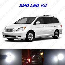 13 x White SMD LED interior + License Plate Lights for 2005-2010 Honda Odyssey