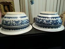 TWO [2]  K'ANG HSI [1662-1722] blue & white PORCELAIN CENSERS ;  one price !!!