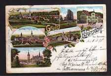 109273 AK Eckersdorf Kr. Neurode Bozkow 1898 Litho Postamt Schloss Hauptplatz To