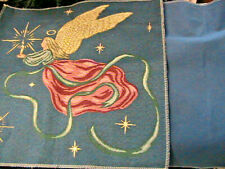 Flying Angel & Stars pillow or wallhanging to put together~Canvas backing 18-1/4