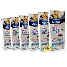 6x Milton Mini Sterilising 50 Tablets For Maximum Protection