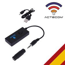 ACTECOM® Receptor Bluetooth a 3.5mm Jack convertidor auxiliar Inalámbrico coche