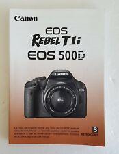Canon Rebel T1i/ Eos 500 D Manual Spanish Version