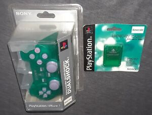 [OFFICIAL SONY OEM] Factory Sealed Emerald Green DualShock+Matching Memory Card