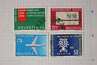 Switzerland sc#378-381 used set 1960