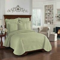 King Charles Matelasse Coverlet - Historic Charleston Collection, Queen, Sage