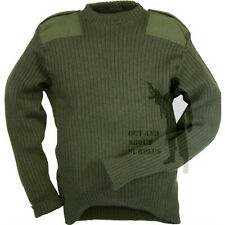 BRITISH ARMY  Commando Jumper Sweater Surplus Pullover Military Cadet Wool Green