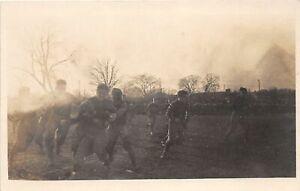 H43/ Sports Postcard RPPC c1910 High School? Football Game Ball Players 1
