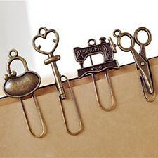 4pcs/set Vintage Metal Bookmarks Bronze color Paper clip Page Holder RI