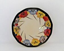 RARE ROYAL DOULTON SERIESWARE ART DECO SIDE PLATE - PANSIES D4049 - PERFECT !!