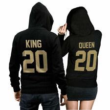 King Queen Set Zwei Hoodies im Set Pullover Pulli Liebe Pärchen GOLD EDIT CVLR®