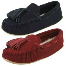 Ladies Clarks Moccassin Style Slippers 'Cozily Comfy'
