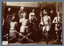 France, Costumes de Chevaliers Médiévaux  Vintage citrate print.  Tirage citra