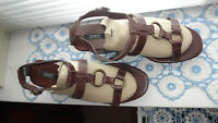 Autograph Weekend @ M&S Brown & Bronze Funky Wedges Sandals Size UK 6.5