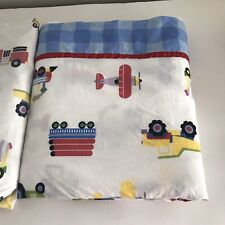 Childrens 2 Piece Twin Size Sheet Set Trains,Planes & Trucks Theme 100% Cotton