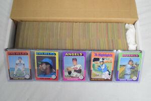 1975 Topps Baseball Complete Set George Brett Robin Yount Rookies AG366
