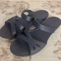 Crocs Kelli Sandals Women's Size 10 Navy Blue Excellent Condition