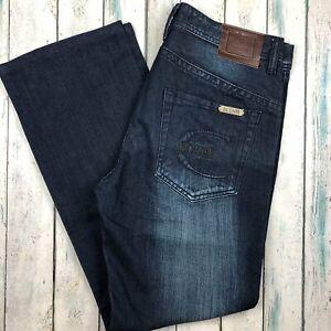 Just Cavalli Italian Dark Wash Distressed Jeans - Size 33