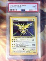 1999 Pokemon Game 16 Zapdos-Holo PSA 9 Mint Card