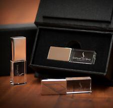 Silver Crystal USB 2.0 Flash Drive Customized Wedding Gift Photography Studio