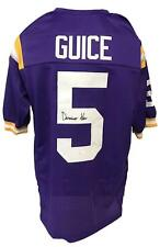Derrius Guice Autographed College Style Custom Purple Jersey JSA Authenticated