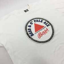 BASS ALE Beer T-shirt White VTG 80's Screen Stars Single Stitch XL