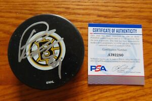 PHIL KESSEL No 81 signed BOSTON BRUINS Puck PSA AI92280 2x Stanley Cup Champions
