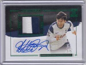20-21 Panini Impeccable Soccer 3/5 Heung Min Son Elegance Patch Auto Spurs SSP