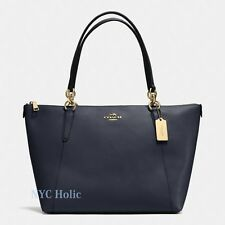 Coach F57526 Ava Tote In Crossgrain Leather Midnight Navy NWT