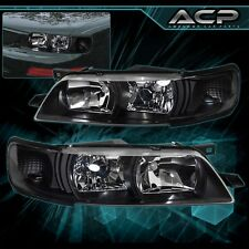 For 1995-1999 Nissan Maxima A32 Black Housing Clear Reflector Headlight Assembly