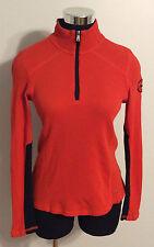 Ralph Lauren Active Long Sleeve 1/2 Zip Orange Shirt Women's Size M