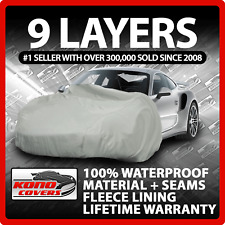 9 Layer Car Cover Indoor Outdoor Waterproof Breathable Layers Fleece Lining 6355
