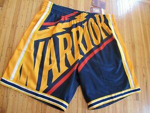 Mitchell & Ness WE BELIEVE Golden State Warriors Big Face Jersey Shorts sz XL