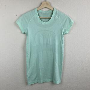 LULULEMON Menthol Green SWIFTLY TECH Short Sleeve Shirt Size 6 Run Stretch M45