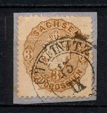 (YYAG 486) Sachsen 1863 USED Chemnitz  Mich 18 Scott 19 Saxony Germany