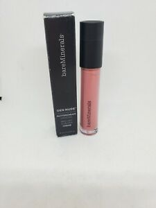 New in Box bareMinerals Gen Nude Buttercream Lipgloss Full Size, Snarky