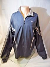 Adidas Retro Soccer Jacket Fleece Lined Men's XX large Adidas Gray Pre Owned