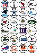 24 Muffin & Cupcake Aufleger  Oblate - Fondant NFL C1