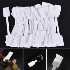 100pcs White Price Label Tags With Hanging String Jewelry Stationery Shsh