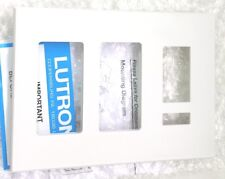 LUTRON FP-COM3-MPLLP 3 GANG PLASTIC DIMMER SELECTOR COM WHITE DEVICE PLATE