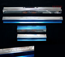 4 DOOR SILL SCUFF PLATE STAINLESS CHEVROLET HOLDEN COLORADO PICKUP UTE 2012-2014