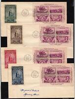 1936 TIPEX Sc 778-75b American Bank Note labels CV $200 set of 4