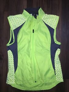 Illuminite Men's Hi Viz Cycling Vest Color Yellow Black Size Large L Back