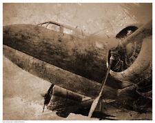 AIRPLANE ART PRINT Antique Plane I 11x14 Teleky