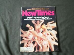 1976 JANUARY 9 NEW TIMES MAGAZINE - HUSTLER'S LARRY FLYNT COVER - B 798