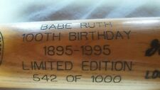 BABE RUTH 100th Birthday 1895-1995 Vintage Limited Edition bat