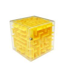 Creative 3D Maze Cube Maze Labyrinth Intelligent Toy, Yellow Colour, Large size