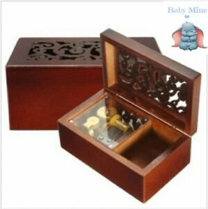 Wooden Rectangle Carving Jewelry Music Box : ♫ BABY MINE  ♫