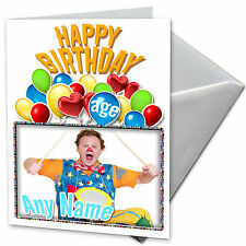 MR TUMBLE  **Personalised Birthday Card** Premium quality. Any NAME & AGE